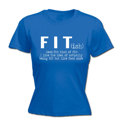 123t Women's Fit Semi Fit I Like The Idea Like Food More Funny T-Shirt