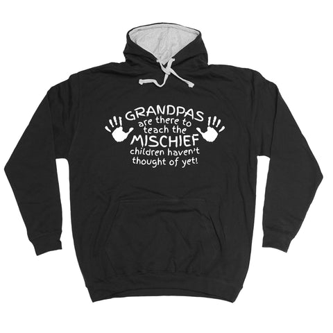 123t Grandpas Are There To Teach The Mischief Children Haven't Thought Of Yet Funny Hoodie