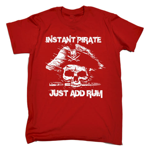 123t Men's Instant Pirate Just Add Rum Funny T-Shirt