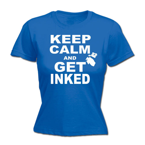 123t Women's Keep Calm And Get Inked Funny T-Shirt