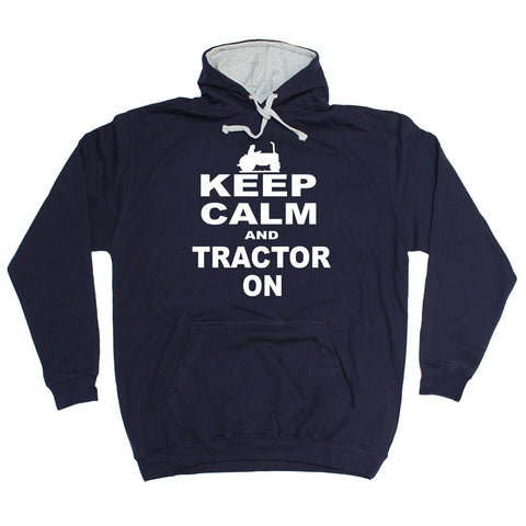 123t Keep Calm And Tractor On Funny Hoodie, 123t