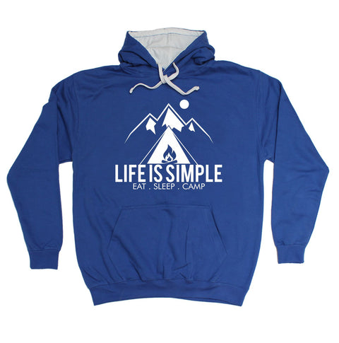 123t Life Is Simple Eat Sleep Camp Funny Hoodie