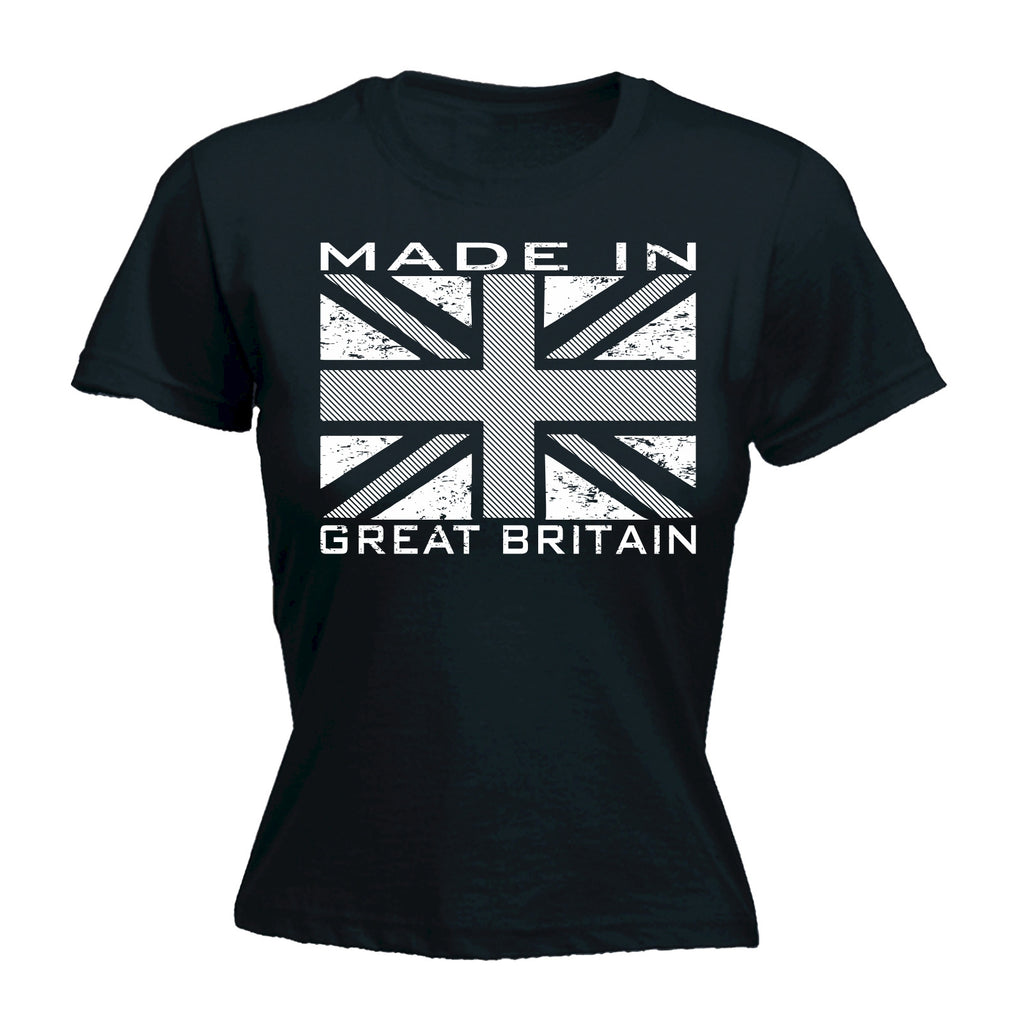 123t Women's Made In Great Britain Flag Funny T-Shirt