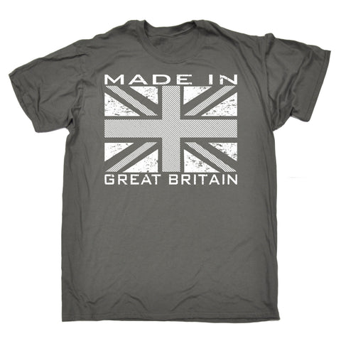 123t Men's Made In Great Britain Flag Funny T-Shirt