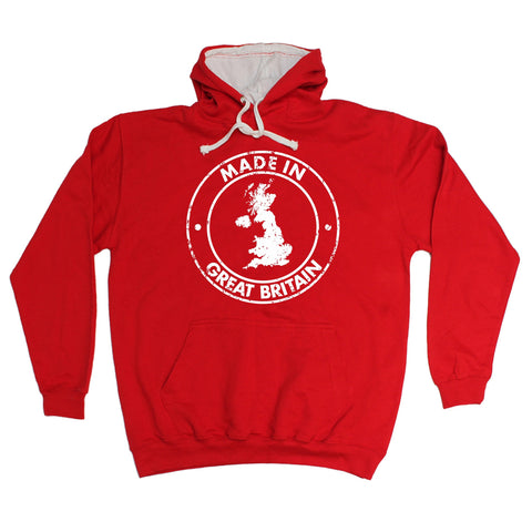 123t Made In Great Britain Map Funny Hoodie