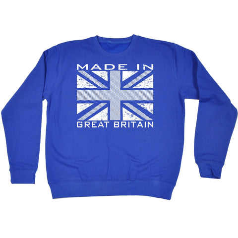 123t Made In Great Britain Flag Funny Sweatshirt