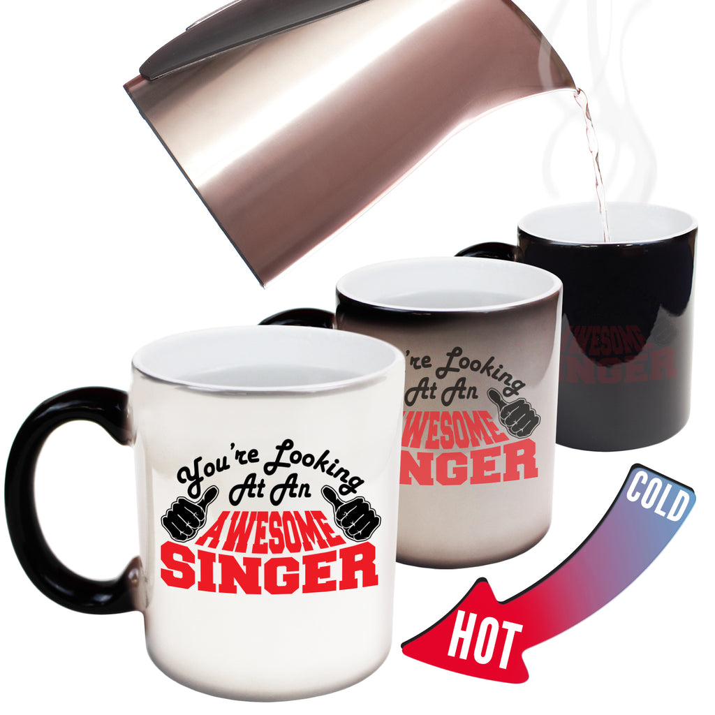 123T Funny Colour Changing Mugs - Singer Youre Looking Awesome - Birthday Gift Presents Christmas Coffee Cup