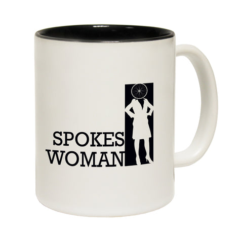 Funny Mugs - Spokes Woman - Joke Birthday Gift Birthday Pun BLACK NOVELTY MUG