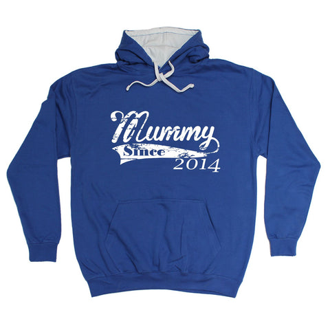 123t Mummy Since 2014 Funny Hoodie