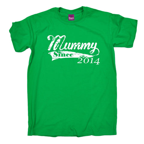 123t Men's Mummy Since 2014 Funny T-Shirt