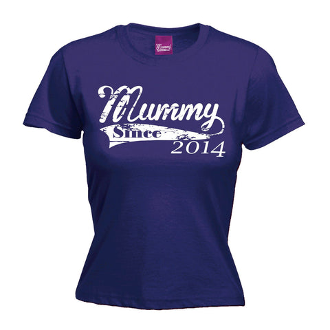 123t Women's Mummy Since 2014 Funny T-Shirt