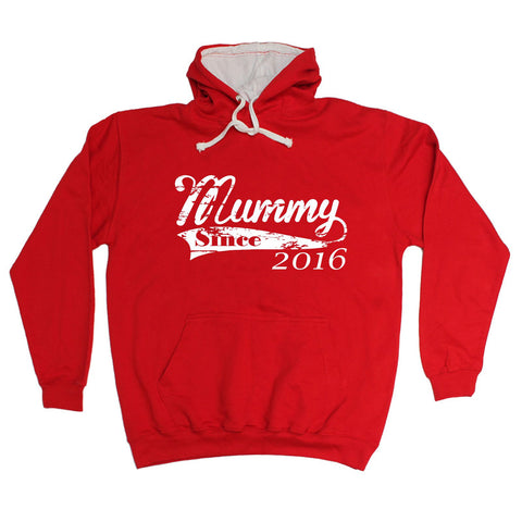 123t Mummy Since 2016 Funny Hoodie