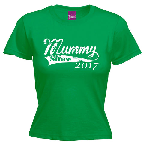 123t Women's Mummy Since 2017 Funny T-Shirt