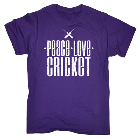 123t Men's Peace Love Cricket Funny T-Shirt