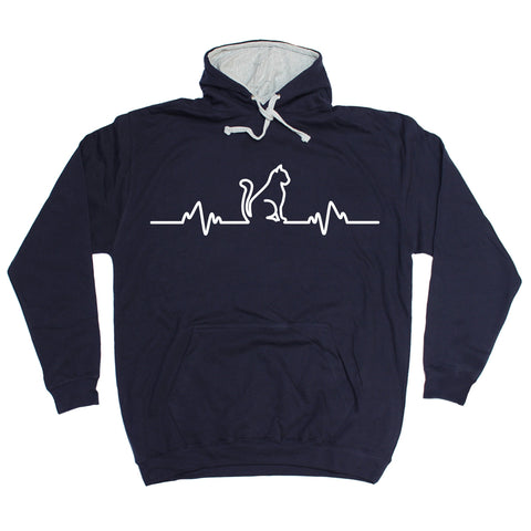 123t Cat Pulse Funny Hoodie