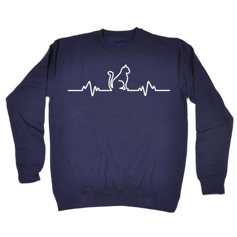 123t Cat Pulse Funny Sweatshirt