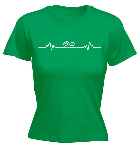 123t Women's Swimming Pulse Funny T-Shirt