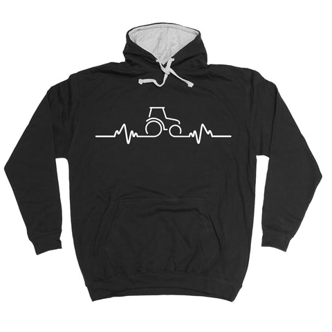 123t Tractor Pulse Funny Hoodie