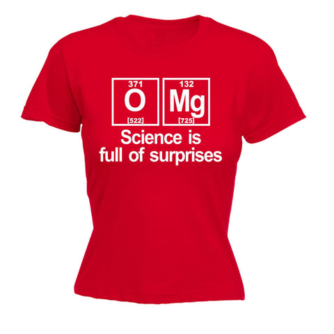 123t Women's OMG Science Is Full Of Surprises - FITTED T-SHIRT