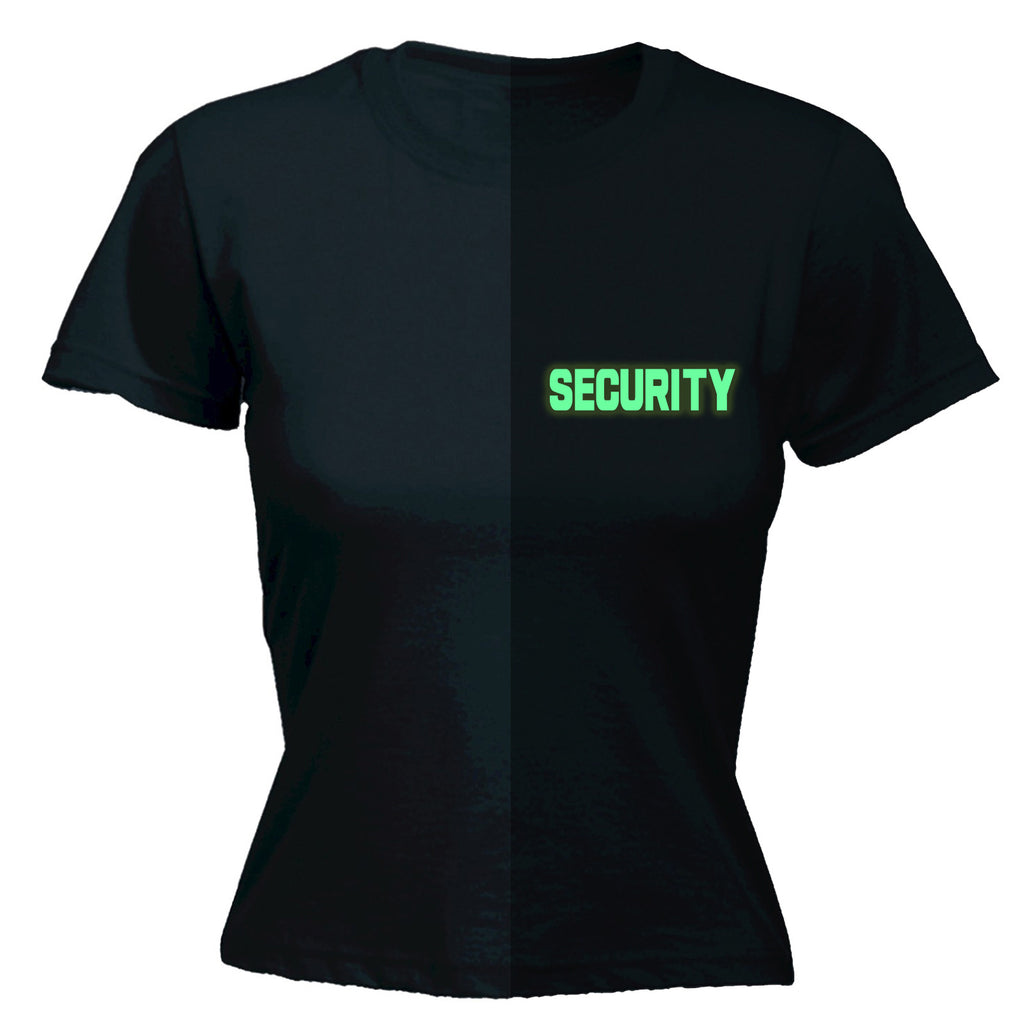 123t Women's Glow In The Dark Security Breast Pocket & Back Workwear T-Shirt