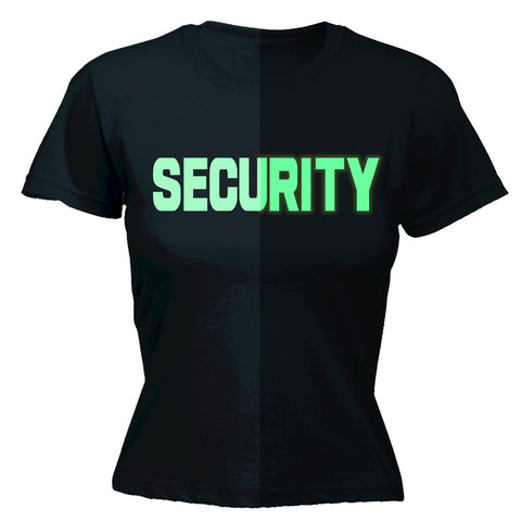 123t Women's Glow In The Dark Security Front & Back Workwear T-Shirt