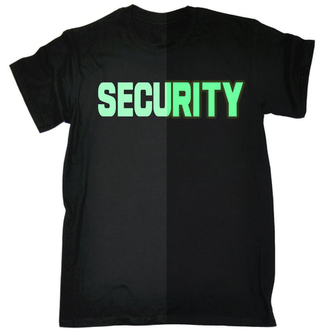 123t Men's Glow In The Dark Security Front & Back Workwear T-Shirt