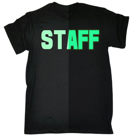 123t Men's Glow In The Dark Staff Front & Back Workwear T-Shirt