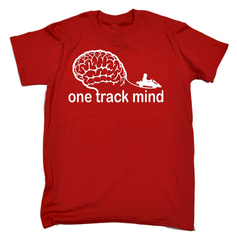 123t Men's One Track Mind Go-Kart Funny T-Shirt