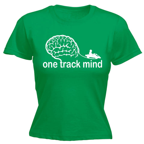 123t Women's One Track Mind Go-Kart Funny T-Shirt