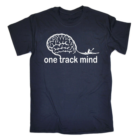 123t Men's One Track Mind Rowing Funny T-Shirt