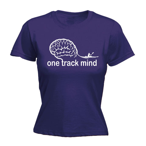 123t Women's One Track Mind Rowing Funny T-Shirt
