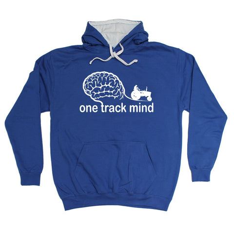 123t One Track Mind Tractor Funny Hoodie