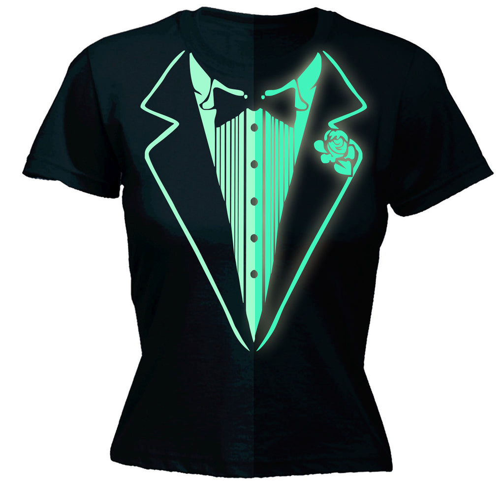 123t Women's Glow In The Dark Tuxedo Funny T-Shirt