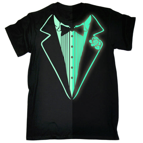 123t Men's Glow In The Dark Tuxedo Funny T-Shirt