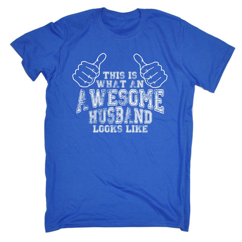 123t Men's This Is What An Awesome Husband Looks Like Funny T-Shirt