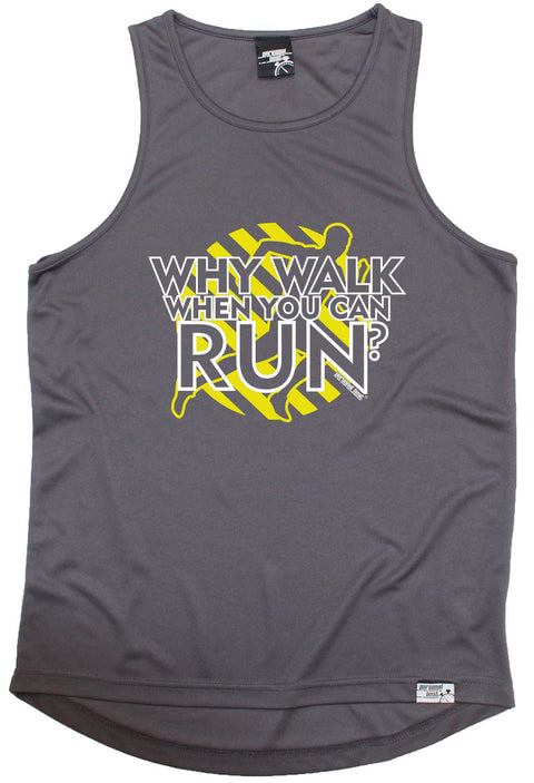 Personal Best Why Walk When You Can Run Running Men's Training Vest