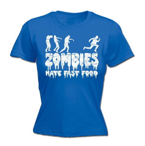 123t Women's Zombies Hate Fast Food Funny T-Shirt