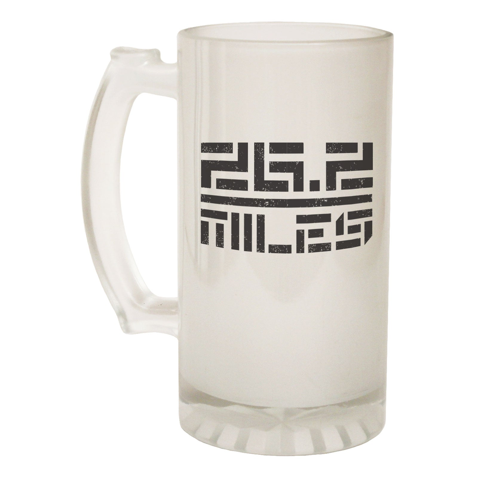 123t Frosted Glass Beer Stein - 26 2 Miles Running - Funny Novelty Birthday