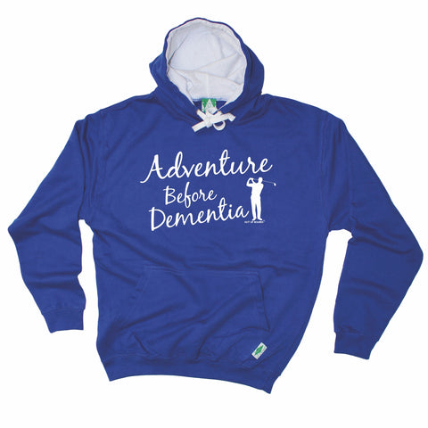 Out Of Bounds Adventure Before Dementia Golfing Hoodie