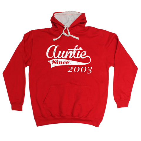 123t Auntie Since ... Any Year Funny Hoodie, 123t