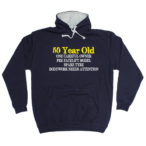 123t 50 Year Old ... One Careful Owner Funny Hoodie