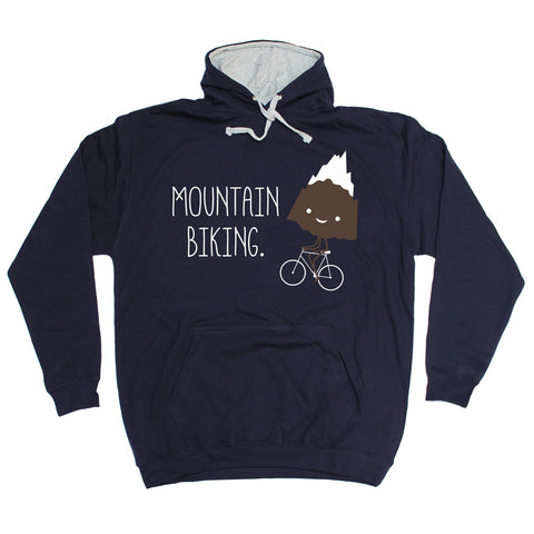 123t Mountain Biking Snow Top Design Funny Hoodie