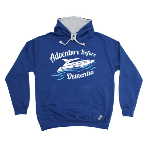 Ocean Bound Adventure Before Dementia Speedboat Sailing Hoodie
