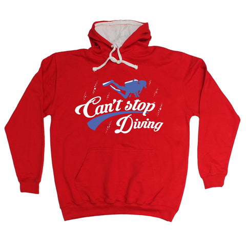 123t Can't Stop Diving Funny Hoodie