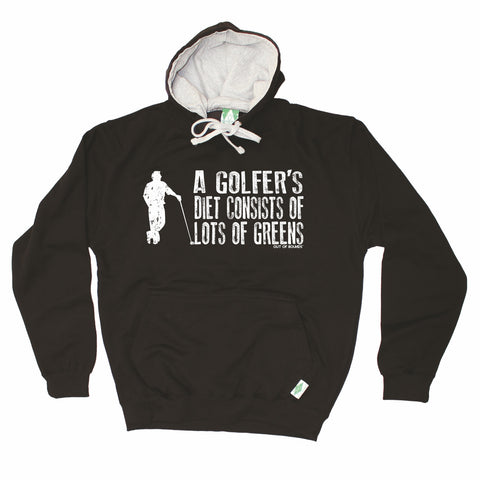 Out Of Bounds Golfer's Diet Consists of Greens Golfing Hoodie