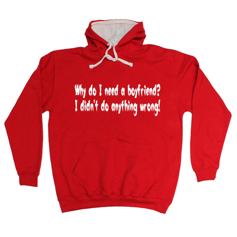 123t Why Do I Need A Boyfriend I Didn't Do Anything Wrong Funny Hoodie