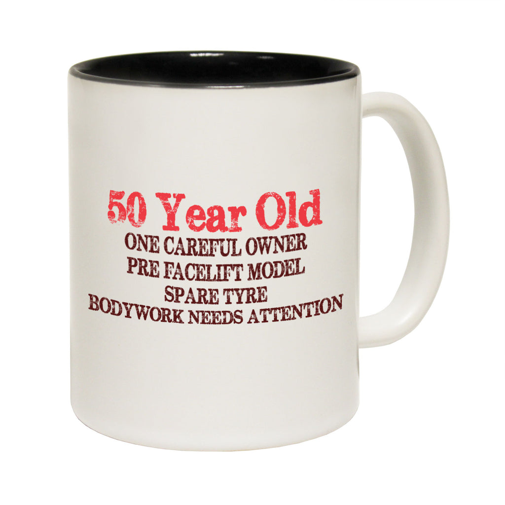 123T Funny Mugs - 50 Year Old Careful Owner - Coffee Cup