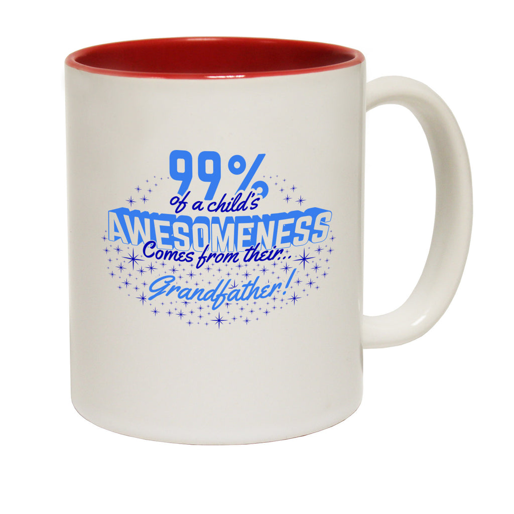 123t 99% of a Childs Awesomeness Comes From Their Grandfather Funny Mug - 123t clothing gifts presents