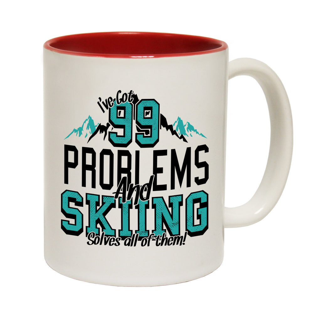 Powder Monkeez I've Got 99 Problems and Skiing Solves All Of Them Funny Mug