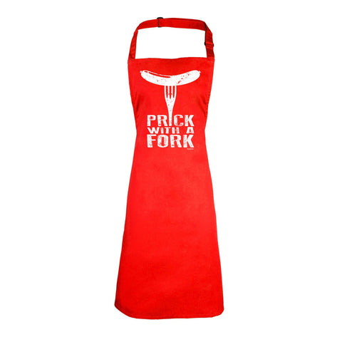 123t Prick With A Fork Funny Apron